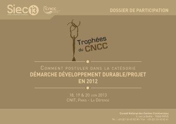 Démarche Développement Durable/projet en 2012 - Conseil ...