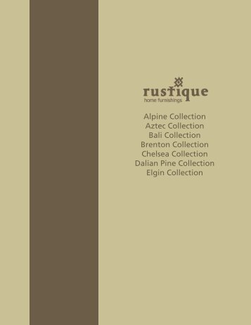 Alpine Collection Aztec Collection Bali Collection ... - Maynards