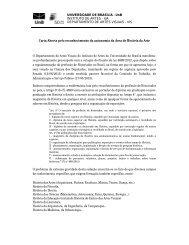Carta aberta UnB - CBHA