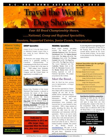Travel the World Dog Shows - AfghansOnline.com