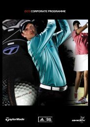 2011 Corporate programme - Golf Wear Marketing