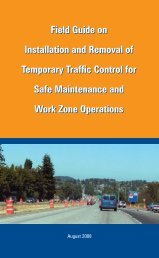 Field Guide on Installation and Removal of Temporary Traffic ...