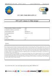WP 3, D7- Annex 3: Filter design - Markus Mu(e)ck's Home Page