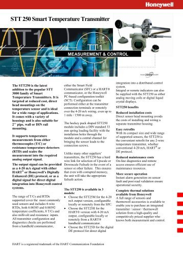 STT 250 Smart Temperature Transmitter - Honeywell