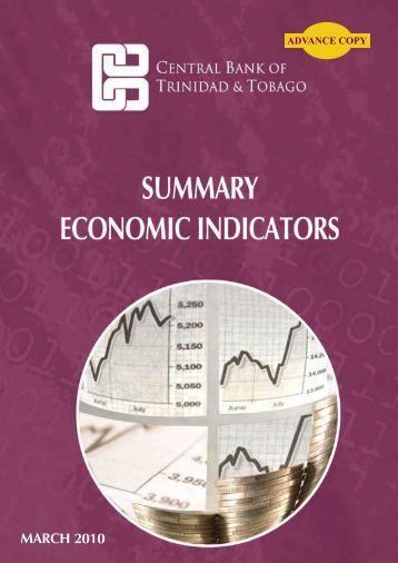 Summary Economic Indicators - Central Bank of Trinidad and Tobago