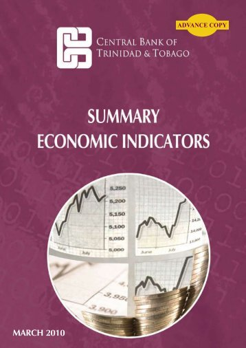Summary Economic Indicators - Central Bank of Trinidad and Tobago