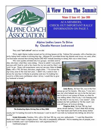 June 2008 Newsletter - Alpine Coach Association