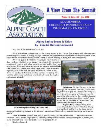 June 2008 Newsletter - Alpine Coach Association