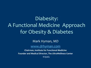 Diabesity - Dr. Mark Hyman