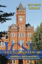 JCSU 2011-2012 Catalog - Johnson C. Smith University