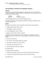 Key Stage 3 Framework for languages ... - Rachel Hawkes
