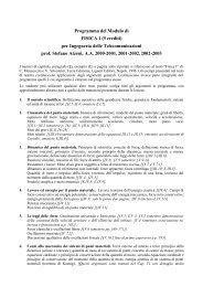 Programma del Modulo di FISICA 1 (5 crediti) per Ingegneria delle ...