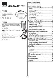 Bedienungsanleitung PD2 DUO, deutsch.indd - Swisslux AG