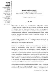 Message de Mme Irina Bokova, Directrice ... - unesdoc - Unesco