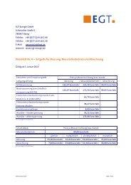 Preisblatt Nr. 4 -- Entgelte für Messung ... - EGT Energie