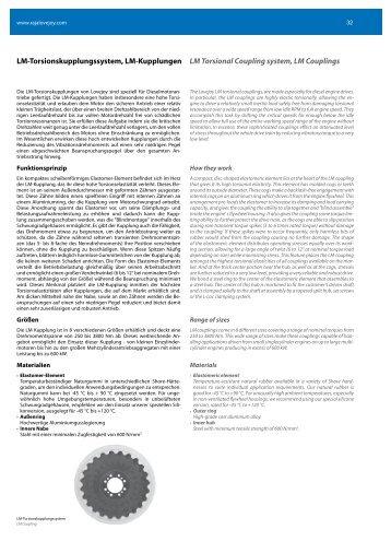 LM-Torsionskupplungssystem, LM-Kupplungen LM Torsional ...
