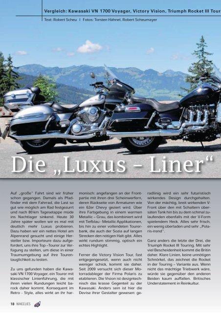 """Die """"Luxus – Liner"""" - Kultourbikes.de"""