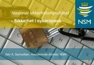 Et sårbart IKT-samfunn - Oslo Vest Rotary Klubb