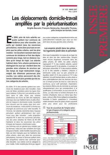 Les déplacements domicile-travail amplifiés par la ... - Insee