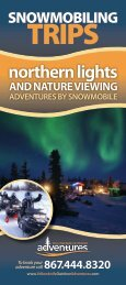 Snowmobile Trips - Yellowknife Outdoor Adventures