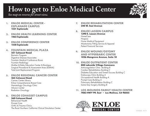 How to Get To Enloe map Adobe PDF Enloe Medical Center