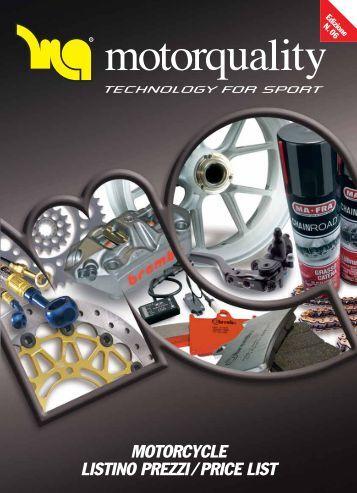 MOTORCYCLE LISTINO PREZZI / PRICE LIST - Motoracingshop.com