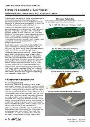 1 Electrode Construction LQ Secrets of a Successful QTouch™ Design