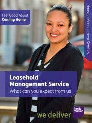 Download our Leaseholder Service Standards Click ... - Family Mosaic