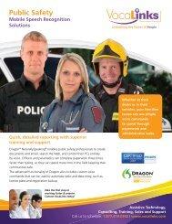 VocaLinks Speech Recognition for Public Safety Brochure (pdf