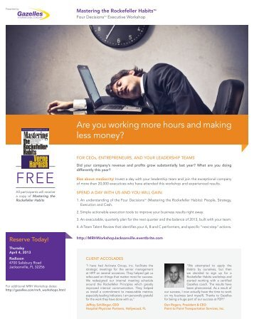 Are you working more hours and making less money? - Gazelles