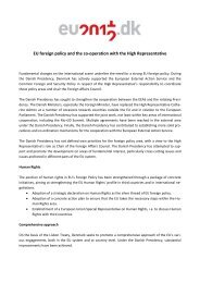 EU foreign policy and the co-operation with the High ... - eu2012.dk