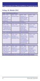 Freitag, 19. Oktober 2012 Programmübersicht Wissenschaftliches ...
