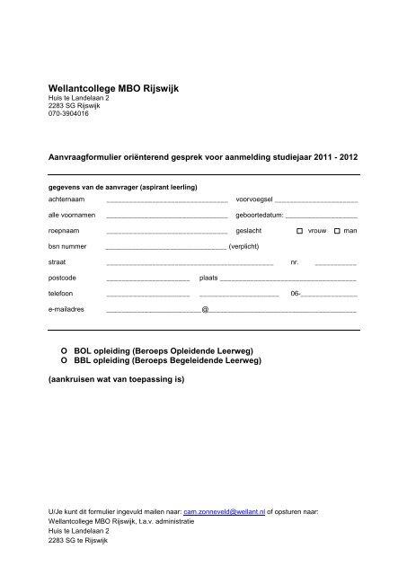 Wellantcollege MBO Rijswijk