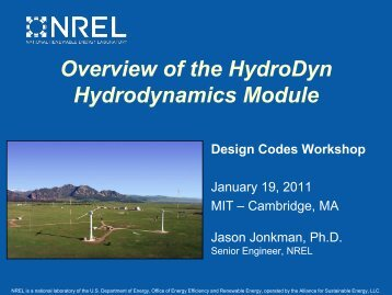 Overview of the HydroDyn Hydrodynamics Module Design ... - NREL