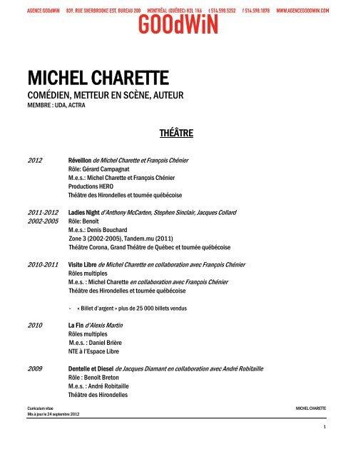 MICHEL CHARETTE - Agence Goodwin