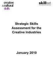 Strategic Skills Assessment for the Creative Industries - Skillset