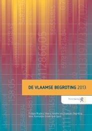 DE VLAAMSE BEGROTING 2013 - Vlaanderen.be