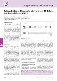 Teleradiologie-Konzepte der letzten 10 Jahre am Beispiel von CHILI