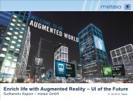 Enrich life with Augmented Reality – UI of the Future - ARM