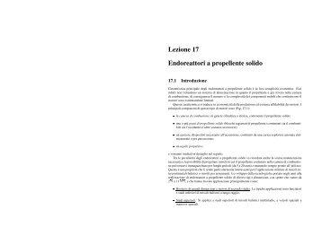 Lezione 17 Endoreattori a propellente solido - Università di Roma ...