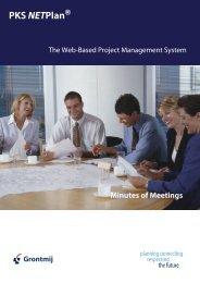 Minutes of Meeting - PKS NETPlan