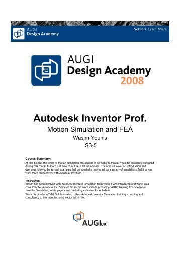 Autodesk Inventor Prof.