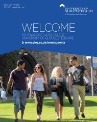 welcome - Insight – University of Gloucestershire