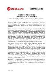 MEDIA RELEASE - OCBC Bank