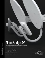 NanoBridge M Datasheet - Ubiquiti Networks
