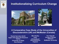 Institutionalizing Curriculum Change - Insight – University of ...
