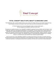 Total concept health spa, beauty & skincare clinic
