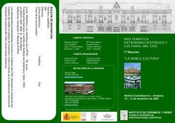 Diapositiva 1 - Red Tematica de Patrimonio Historico y Cultural