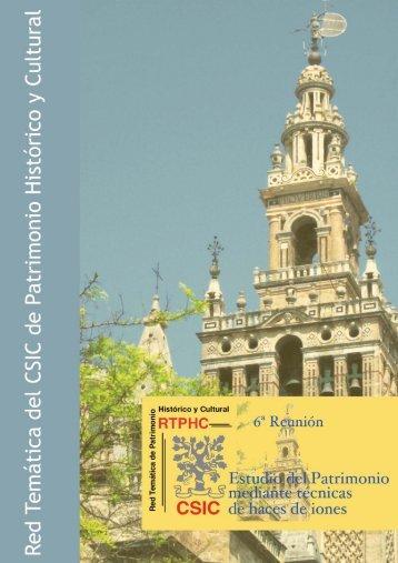 Índice - Red Tematica de Patrimonio Historico y Cultural - Consejo ...