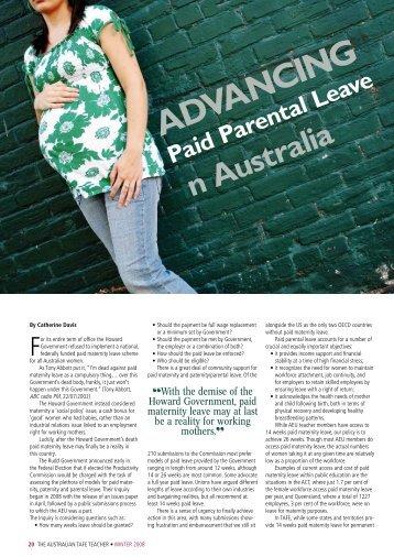 Advancing Paid Parental Leave in Australia - Australian Education ...